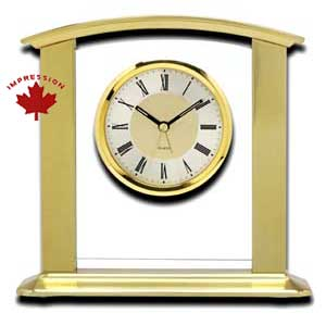 Gold Finish Mantel / Desk Clock