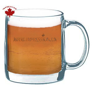 Printed Clear Glass Mug 12 Ounce