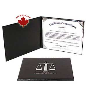 Vinyl Vertical Certificate Holder Legal Size