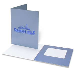 Metallic Blue Cardboard Polaroid Picture Frame