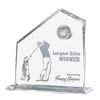 Engraved Crystal Golf Award