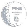 Etched Crystal Golf Award With