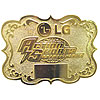 Personalized Round Pewter Belt Buckle