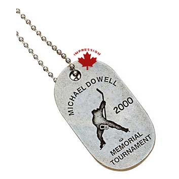 dog tags. Tournament Dog Tags